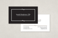 Classic Black Business Card Template