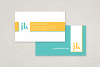 Playful Monogram Business Card Template