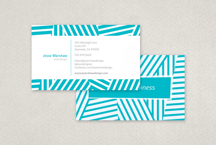 Medium_fun_stripes_business_card_template_1
