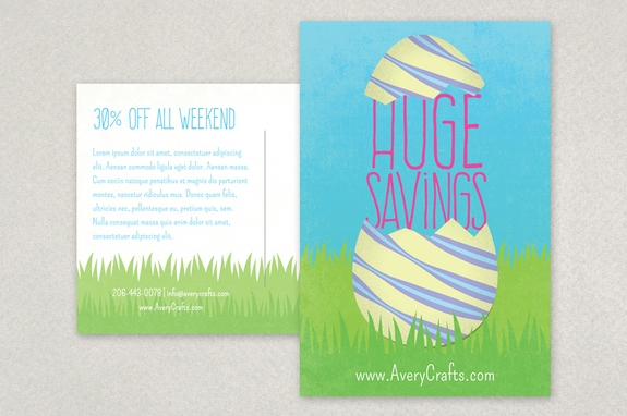 Spring Sale Easter Postcard Design Template  Inkd