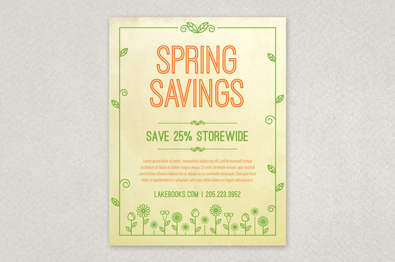 Spring Illustration Flyer Design Template  Inkd