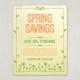 Spring Illustration Flyer Design Template