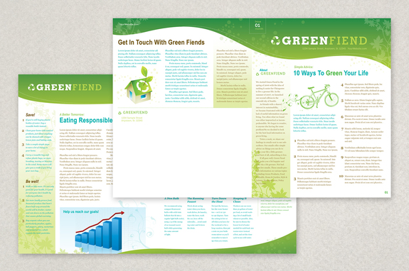 Going Green Flyer Newsletter Template | Inkd