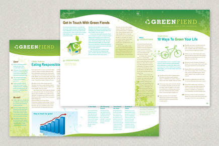 Going Green Flyer Newsletter Template  News Letter Formats