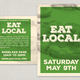 Eat Local Postcard Design Template