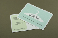 Dry Cleaners Postcard Template