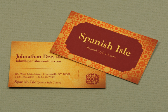 Spanish restaurant business card template inkd spanish restaurant business card template flashek Gallery