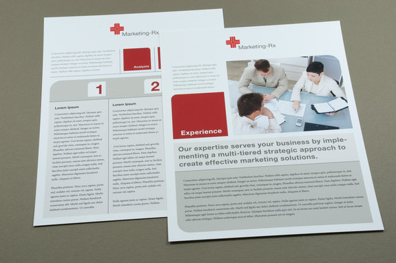 "Marketing ""Prescription"" Datasheet Template 