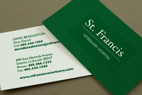Green Veterinary Business Card Template