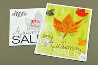 Autumn Sale Retail Postcard Template