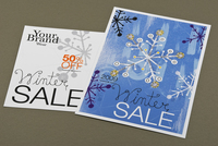 Winter Sale Retail Postcard Template