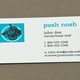 Posh Nosh Business Card Template