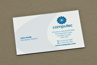 Blue IT Consulting Business Card Template