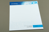 Watercolor Cleaning Company Letterhead Template