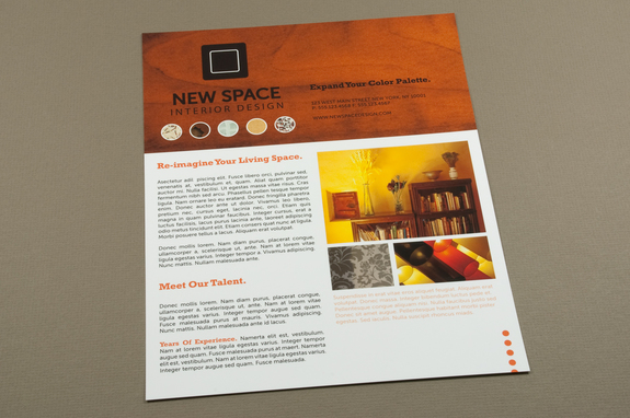 Interior Design Flyer Template  Inkd