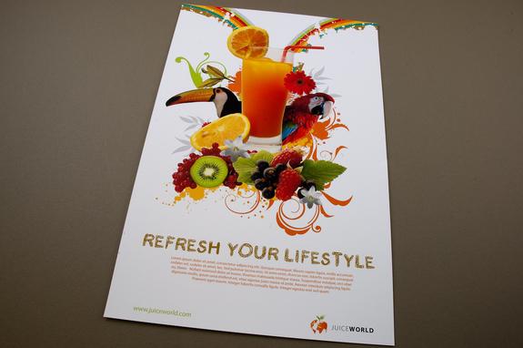 Juice Bar Flyer Template Inkd