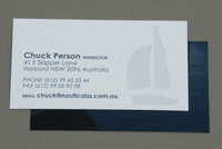 Classic Sailing School Business Card Template