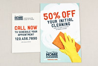Cheery Home Cleaning Postcard Template
