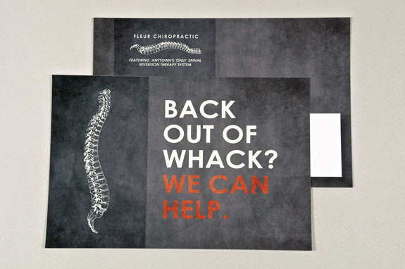 chiropractic postcard template