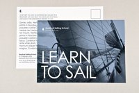 Classic Sailing School Postcard Template