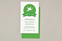 Quilt Shop Business Card Template