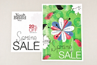 Spring Sale Retail Postcard Template
