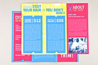 Trendy Barber Shop Brochure Template