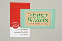 Home and Office Cleaners Business Card Template