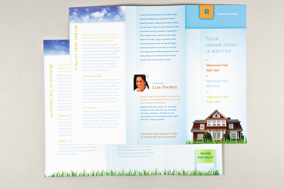 Colorful Real Estate Agent Brochure Template   Inkd