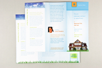 Colorful Real Estate Agent Brochure Template