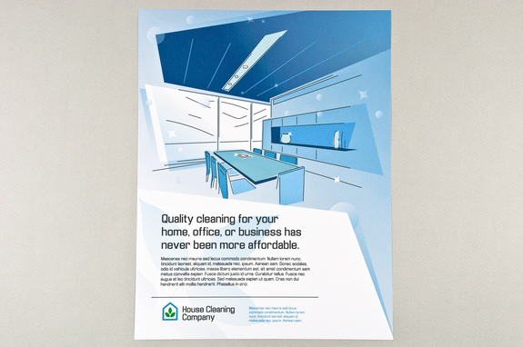 Blue Graphic Home And Office Cleaning Flyer Template  Inkd