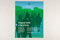 Teal Public Safety Flyer Template