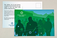 Teal Public Safety Postcard Template