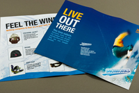 Extreme Snowboard Apparel Brochure Template