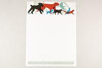 Silhouetted Animals Veterinary Letterhead Template
