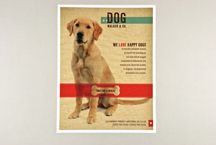 Friendly dog walking flyer template inkd for Dog walking flyer template free