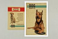 Friendly Dog Walking Postcard Template