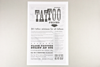 Distressed Tattoo Shop Flyer Template