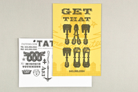 Western Type Tattoo Shop Postcard Template