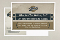 Sign Shop Banner Postcard Template