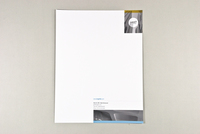 General Business Letterhead Blue and Yellow Template