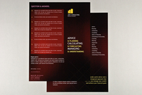 General Business Datasheet Red Argyle Template