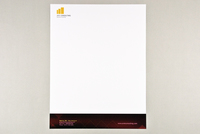 Red Argyle Business Letterhead Template