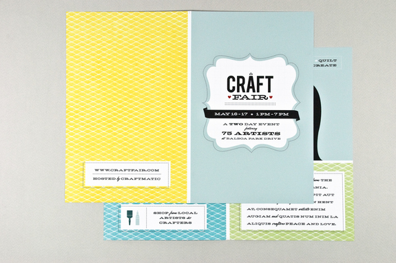 Retro Craft Fair Brochure Template  Inkd