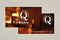 Upscale Bistro Business Card Template
