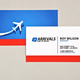 Sophisticated Travel Agency Business Card  Template