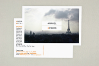 Travel Paris Postcard Template