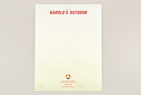 Sports & Outdoor Store Letterhead Template