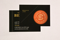 Classic Bagel Bakery Business Card Template
