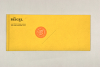Classic Bagel Bakery Envelope Template